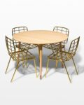 Front view thumbnail of Brass Toe and Marcy Dining Set