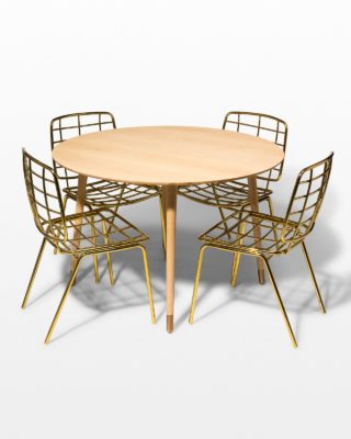 Front view of Brass Toe and Marcy Dining Set