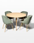 Front view thumbnail of Brass Toe and Lana Green Dining Set