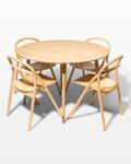 Front view thumbnail of Brass Toe and Jule Dining Set