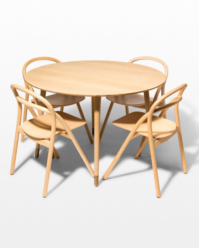 Front view of Brass Toe and Jule Dining Set