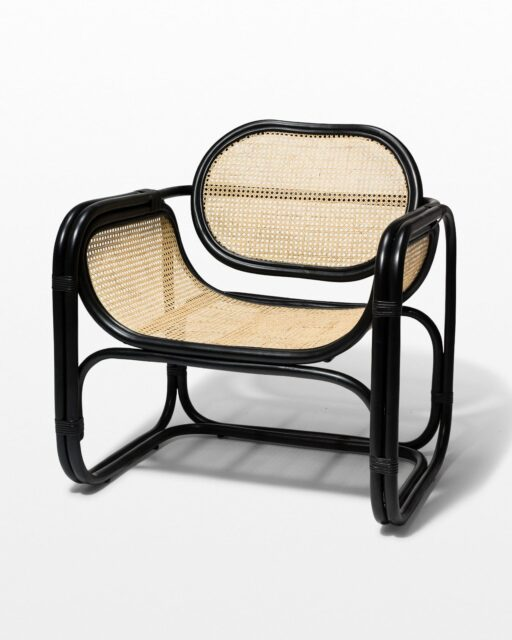 Front view of Haskel Rattan Lounge Chair