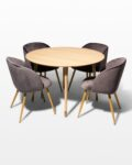 Front view thumbnail of Brass Toe and Mist Grey Dining Set