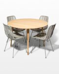 Front view thumbnail of Brass Toe and Lance Rattan Dining Set