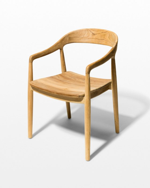 Front view of Adams Blond Chair