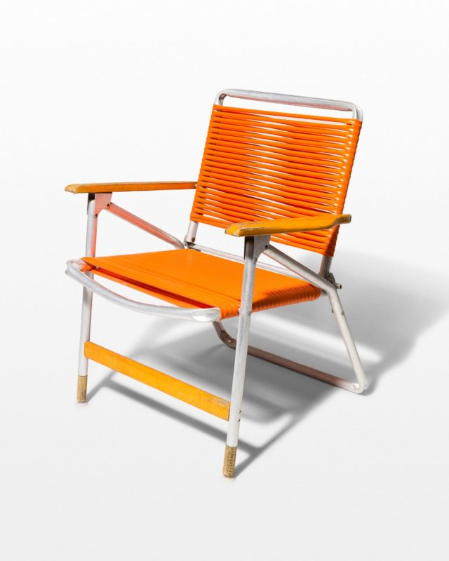 Front view of Citrus Orange Beach Chair