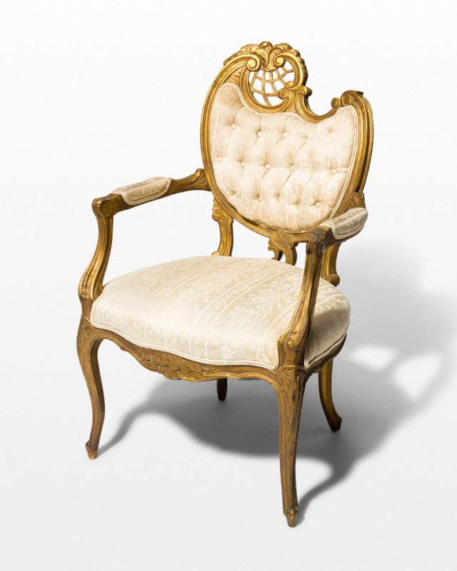Front view of Cleo Ornate Side Chair