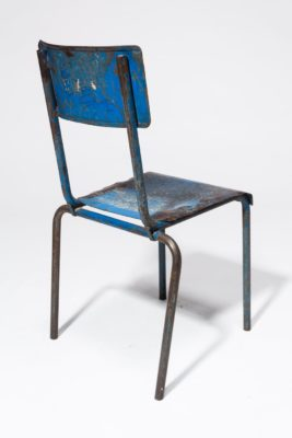 Alternate view 4 of Corbin Distressed Blue Metal Chair