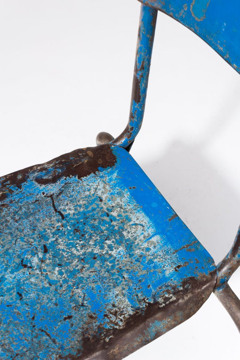 Alternate view 1 of Corbin Distressed Blue Metal Chair