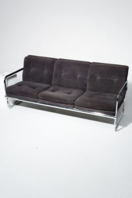 Alternate view 3 of Borman Velvet and Chrome Sofa