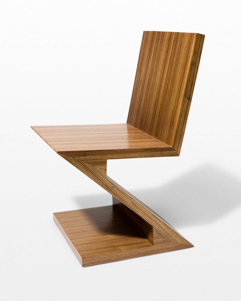 Front view of Wally Veneer Z Chair