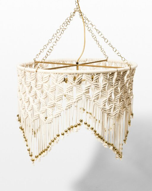 Front view of Sydney Macrame Chandelier