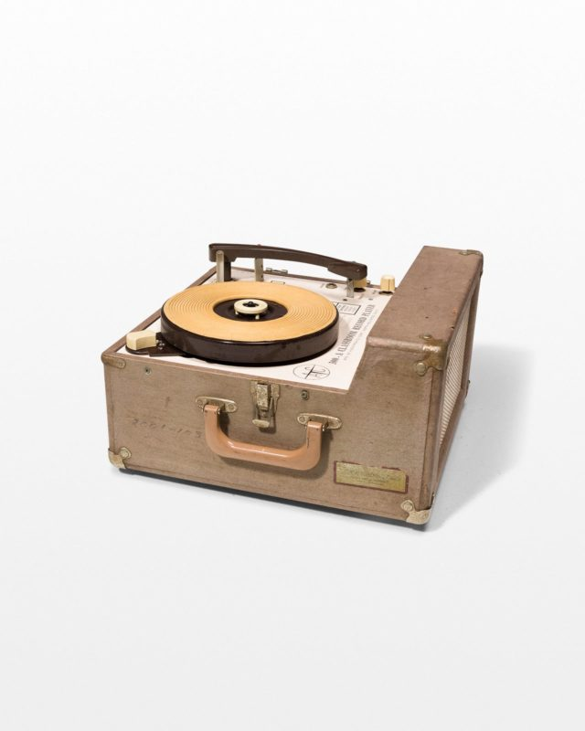 Front view of Frederick Vintage Portable Record Player