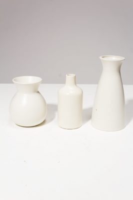 Alternate view 2 of Press Cream Ceramic Vase Trio