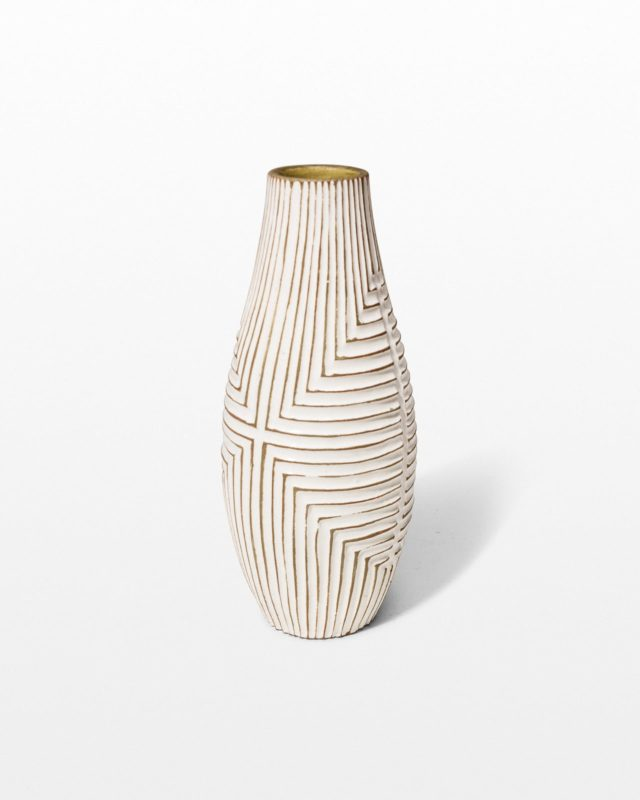 Front view of Casale Grid Ceramic Vase