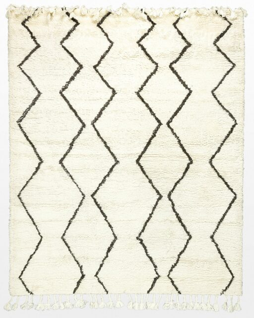 Front view of Zoe Moroccan Wool 8' x 10' Rug