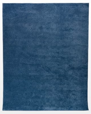 Front view of Amir Blue 8' x 10' Shag Rug