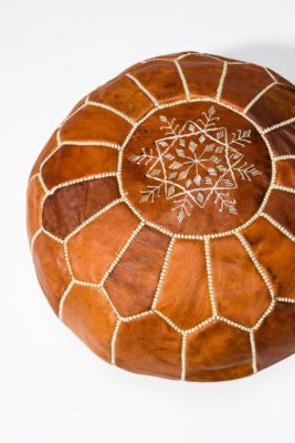 Alternate view 1 of Colby Brown Leather Pouf