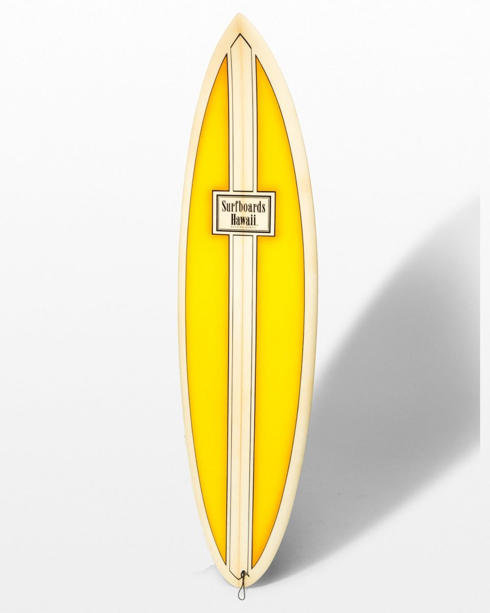 Front view of Crest Surfboard