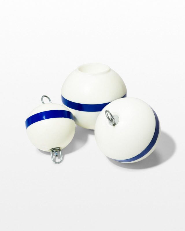 Front view of Blue Line Plastic Buoy Trio