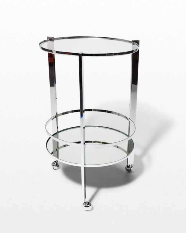 Front view of Pavo Circular Bar Cart