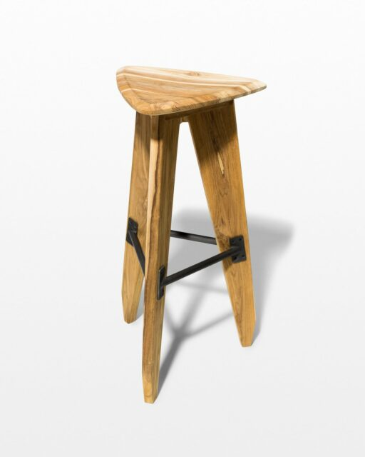 Front view of Darien Triangle Stool
