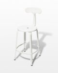 Front view thumbnail of Pose White Counter Stool