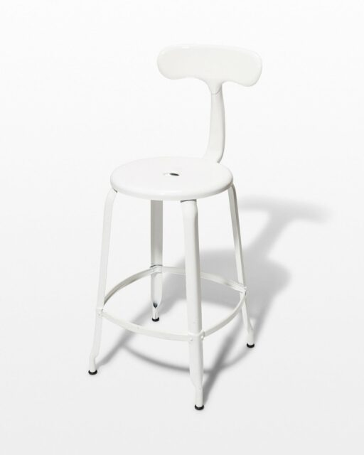 Front view of Pose White Counter Stool
