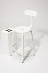 Alternate view thumbnail 4 of Pose White Counter Stool