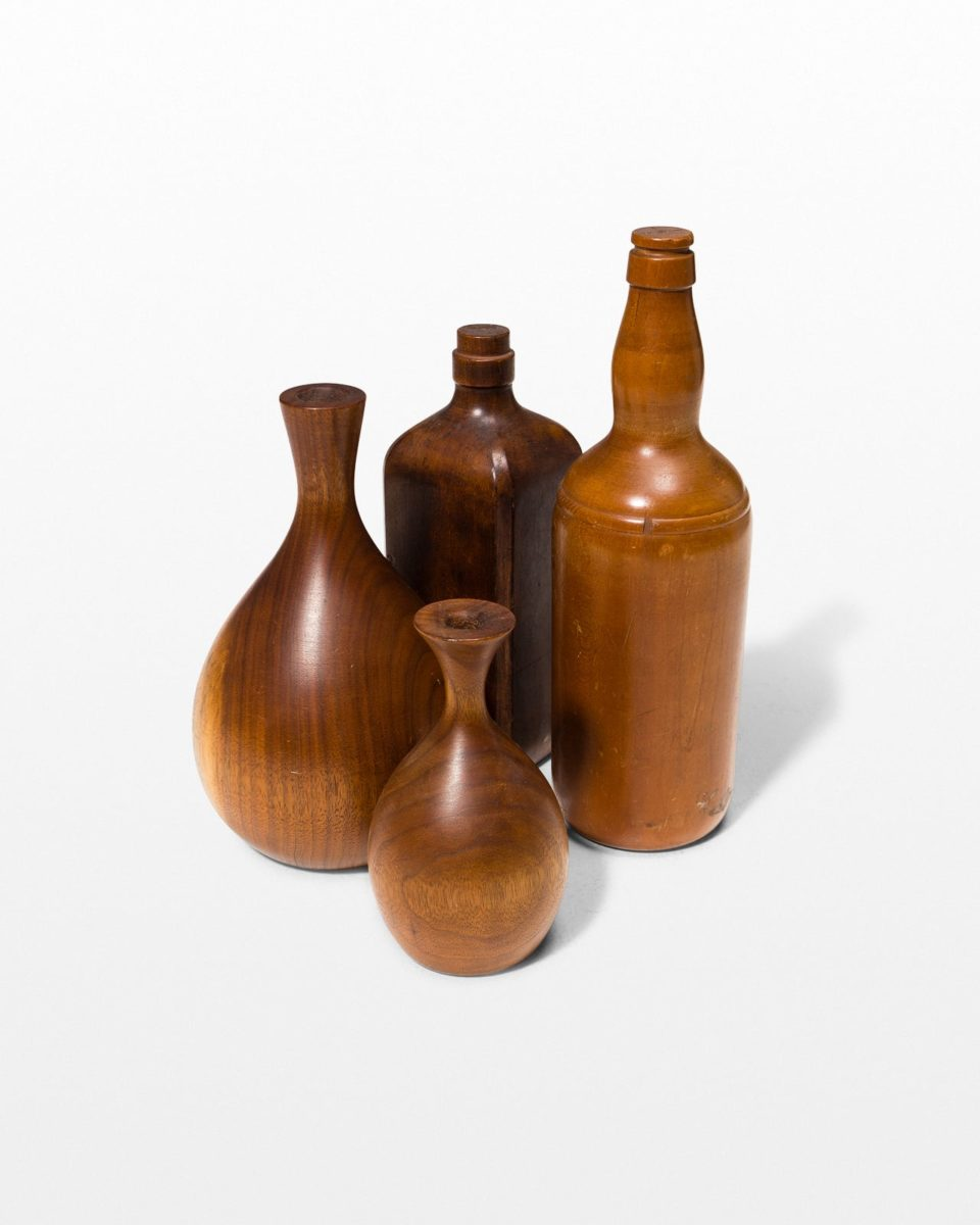 Front view of Craft Wooden Vase Set