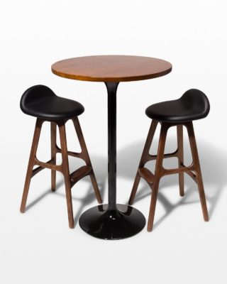 Front view of Cassidy Tulip Bar Table and Stool Set