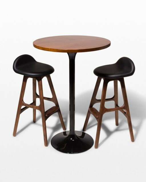 Front view of Cassidy Tulip Table and Buckson Bar Stool Set