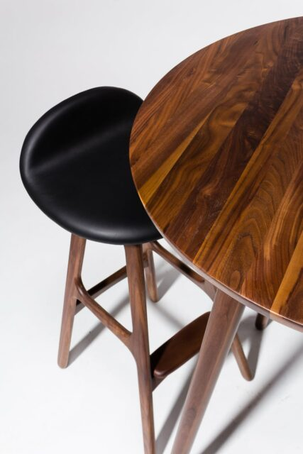 Alternate view 1 of  Tacoma Walnut Bar Table and Stool Set
