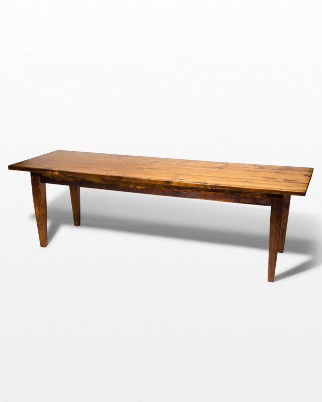 Front view of Haverhill 8' Long Wooden Farm Table