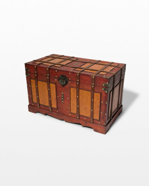 Front view of Lenor Wooden Trunk