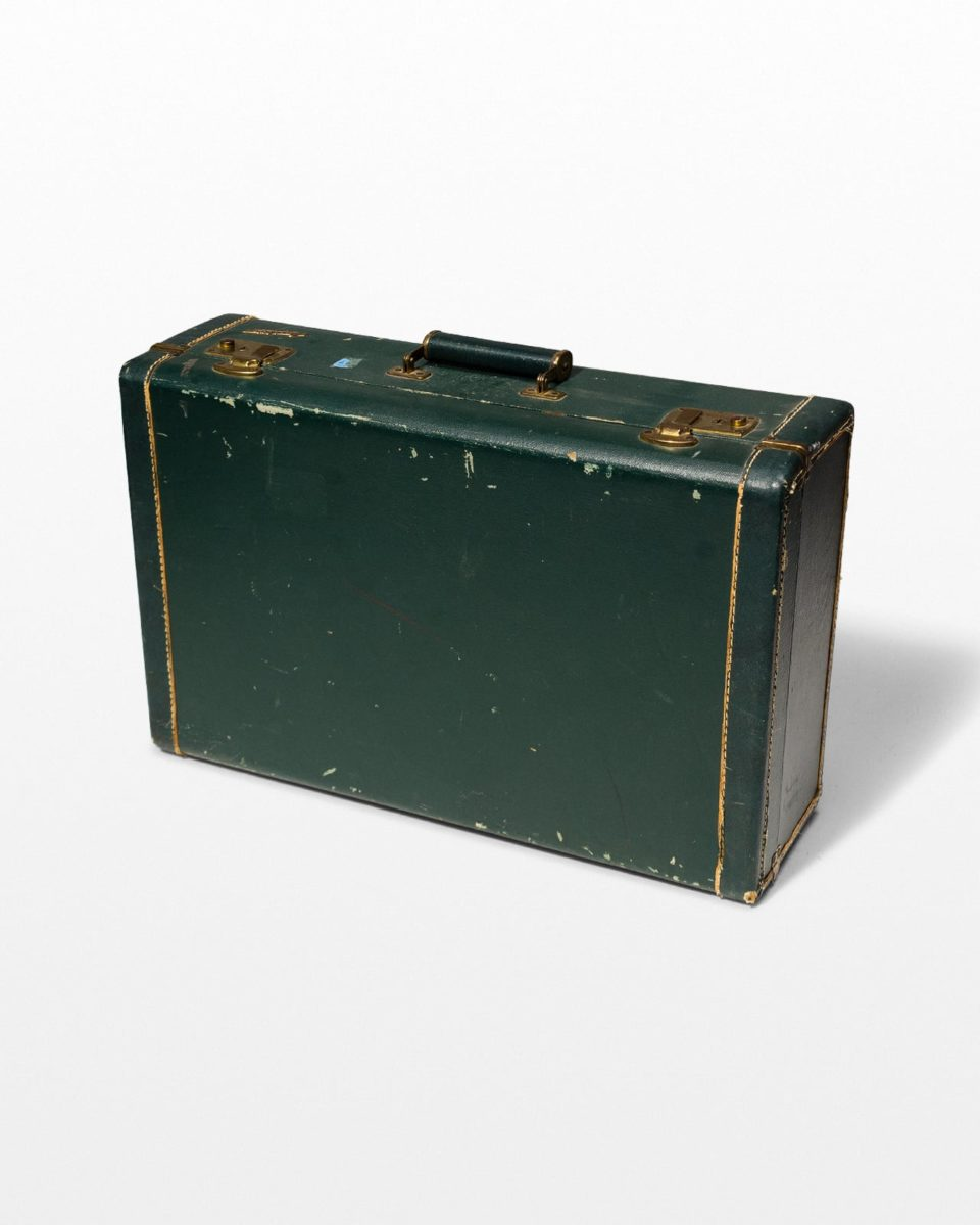 Front view of Pelham Distressed Vintage Suitcase