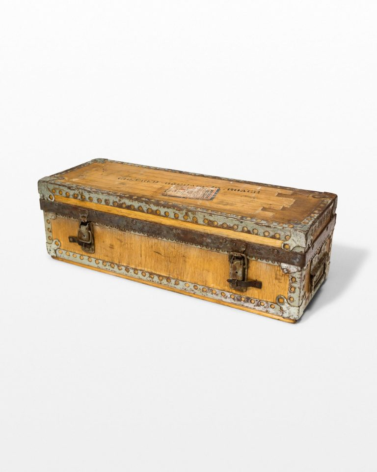 Front view of Jacques Distressed Luggage Case