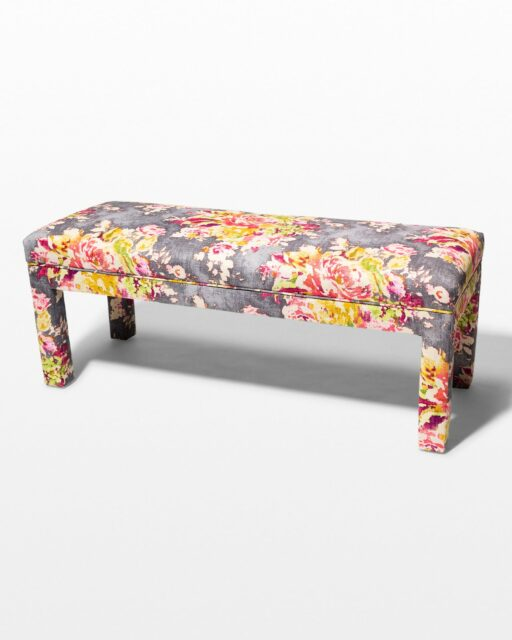 Front view of Bixby Linen and Cotton Bench