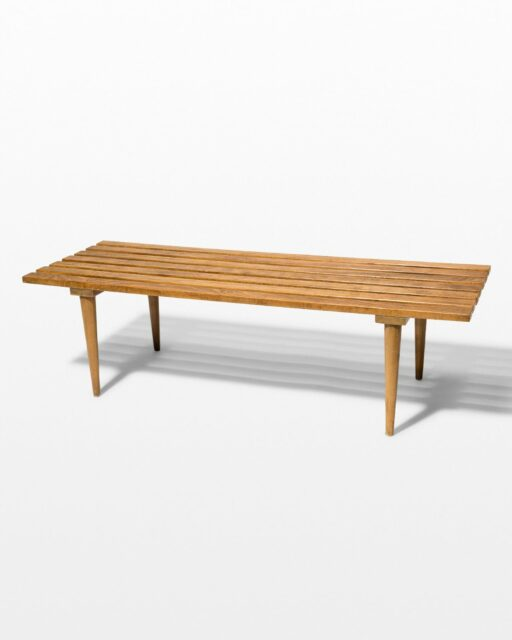 Front view of Walt Bench Coffee Table