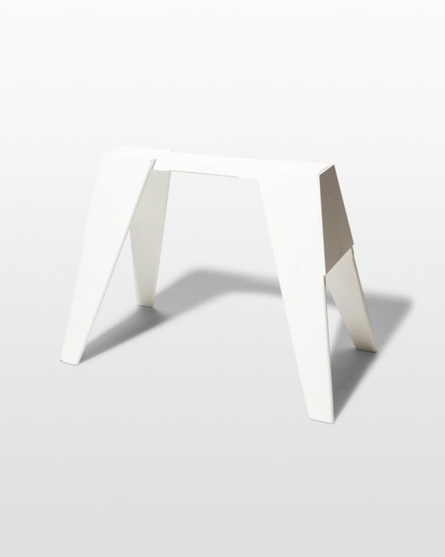 Front view of Ivory Sawhorse Shape