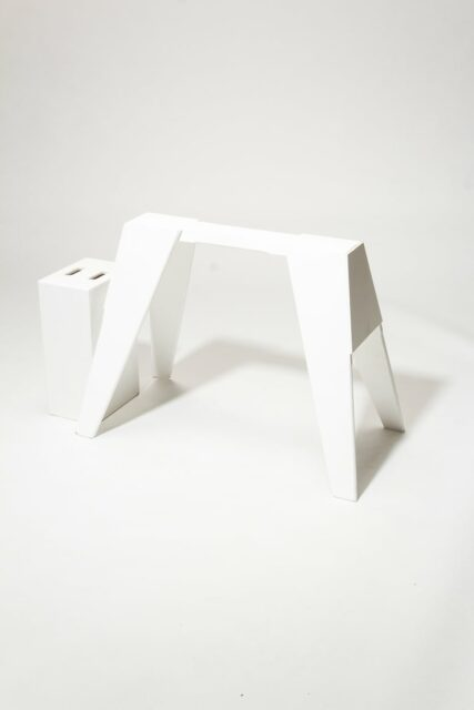 Alternate view 2 of Ivory Sawhorse Shape