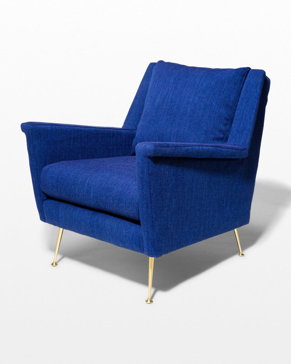 Front view of Masika Blue Armchair