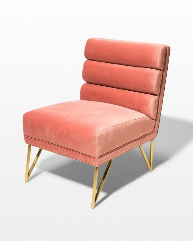 Front view of Tami Coral Velvet Chair