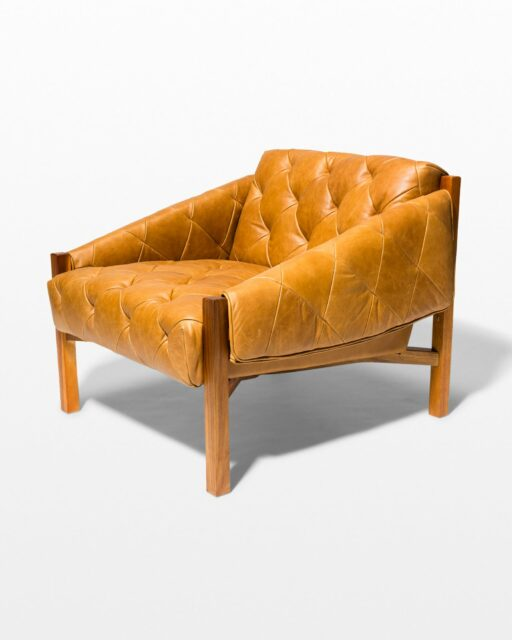 Front view of Marcus Tufted Leather Club Chair