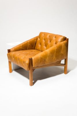 Alternate view 2 of Marcus Tufted Leather Club Chair