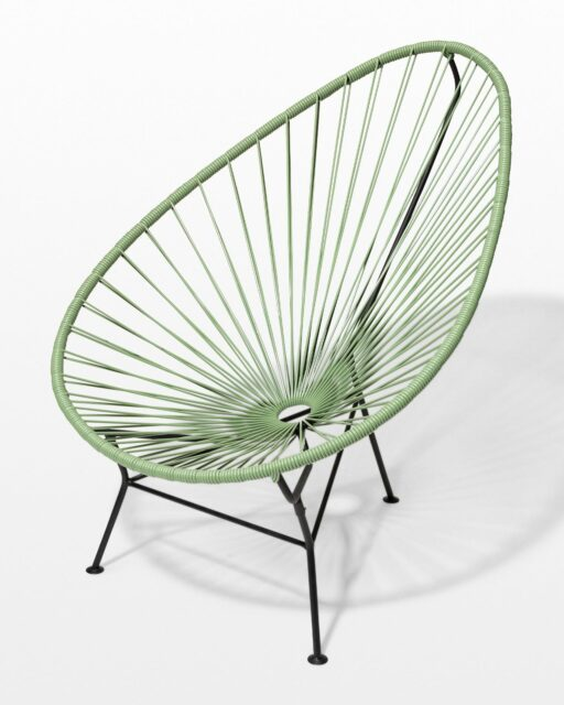 Front view of Olive Cone Chair