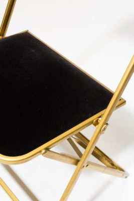 Alternate view 1 of Black Velvet Folding Chair