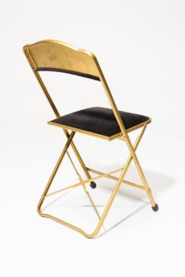 Alternate view 4 of Black Velvet Folding Chair