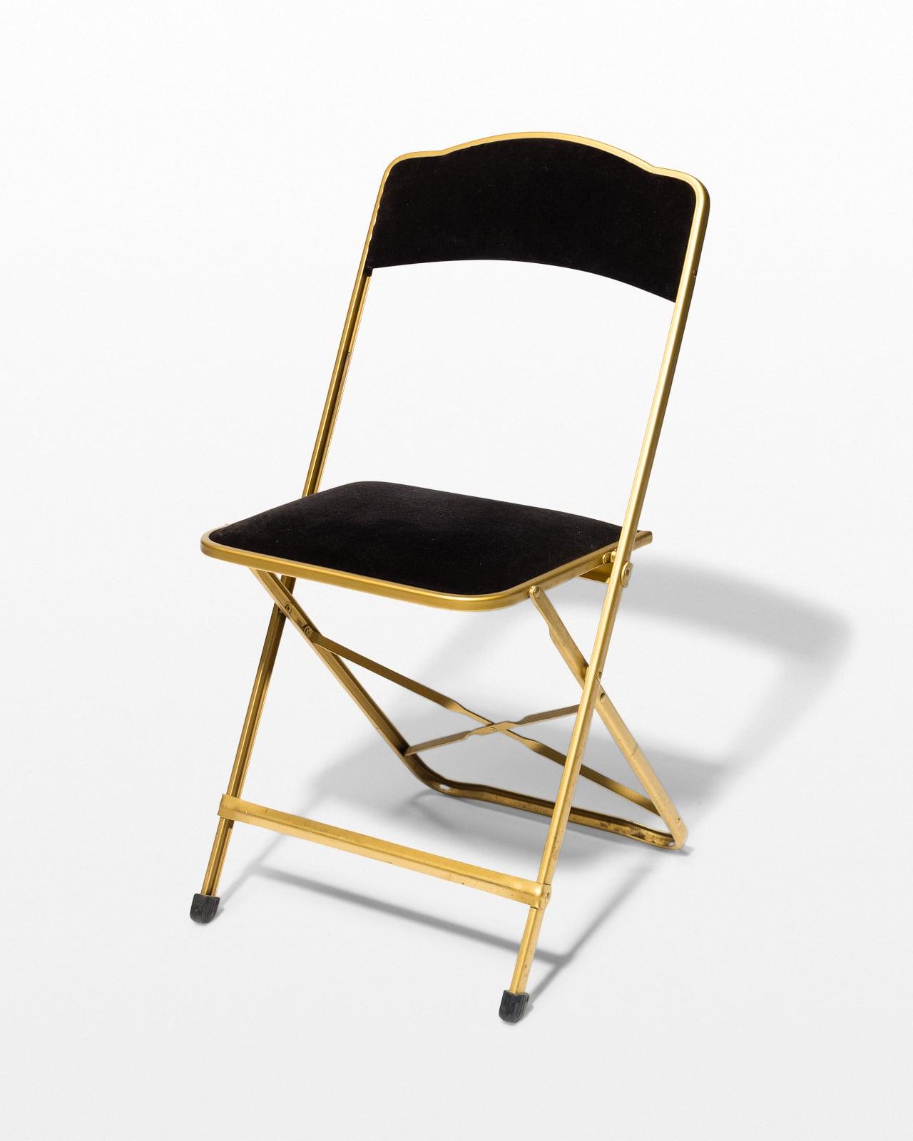 Miraculous Ch657 Black Velvet Folding Chair Prop Rental Acme Brooklyn Ncnpc Chair Design For Home Ncnpcorg