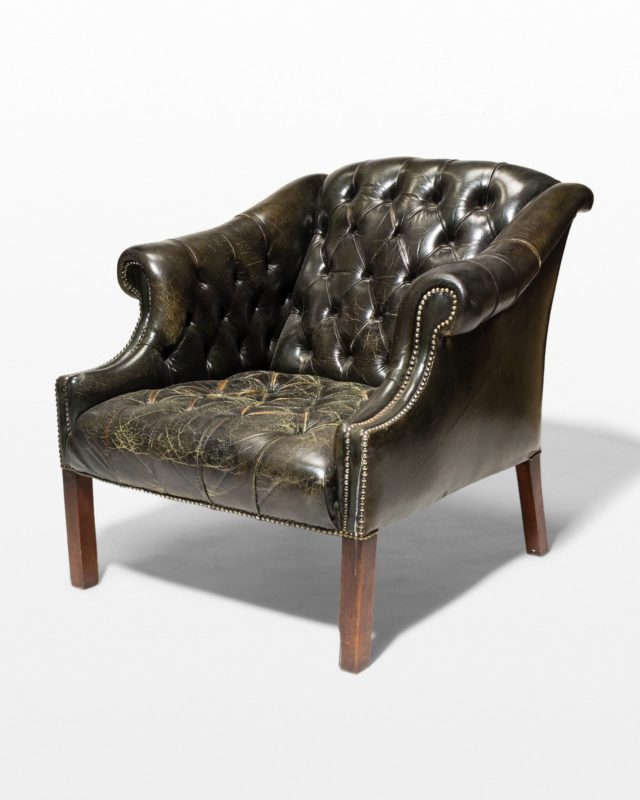 Front view of Bergen Leather Armchair